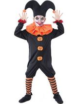 Child Boys Evil Jester Costume