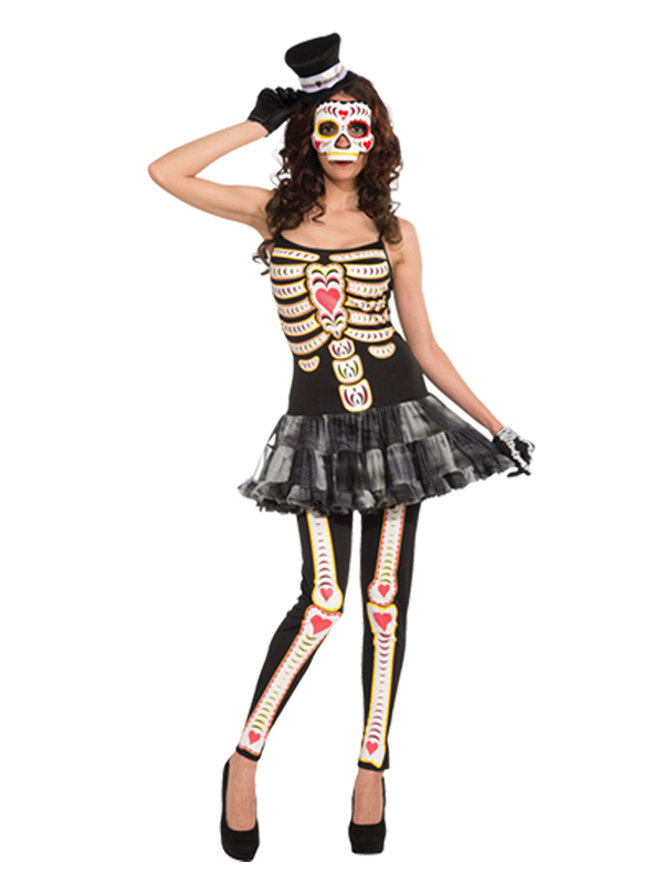 Day Of The Dead Tutu Dress Costume
