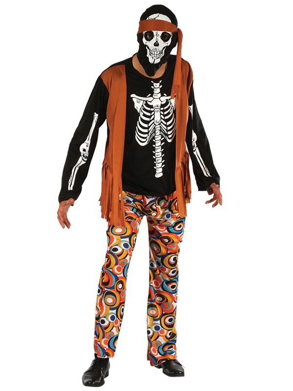 Skeleton Hippy Costume