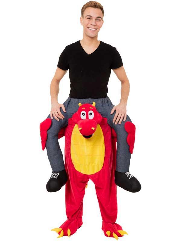 Piggy Back Red Dragon Costume