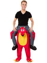 Piggy Back Red Dragon Costume