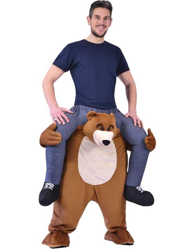 Piggy Back Brown Bear Costume