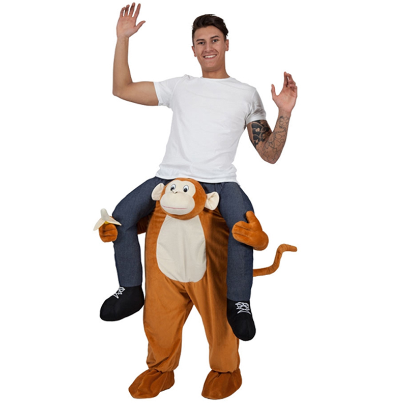 sentinel shoulder carry me piggy back ride on fancy dress adult party costume mens outfit - Halloween Monkey Costumes