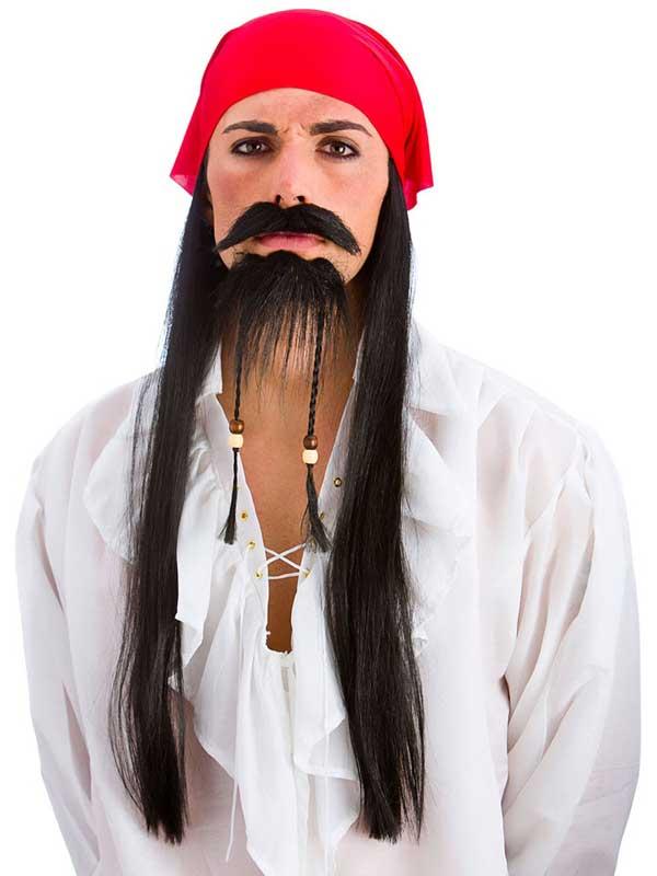 Adult Mens Pirate Set Wig