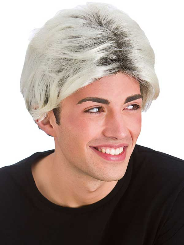 Adult Mens 80'S Pop Star Wig Blonde