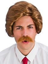 Adult Mens 80'S Funny Guy Wig Brown