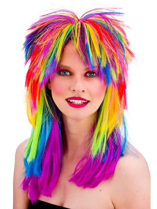 Adult Pop Wig Rainbow