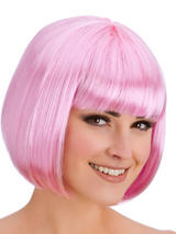 Adult Ladies Diva Pink Wig