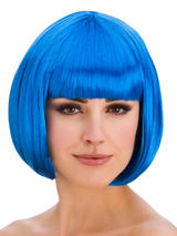 Adult Ladies Diva Blue Wig