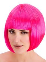 Adult Ladies Diva Neon Pink Wig
