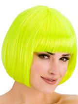 Adult Ladies Diva Neon Yellow Wig