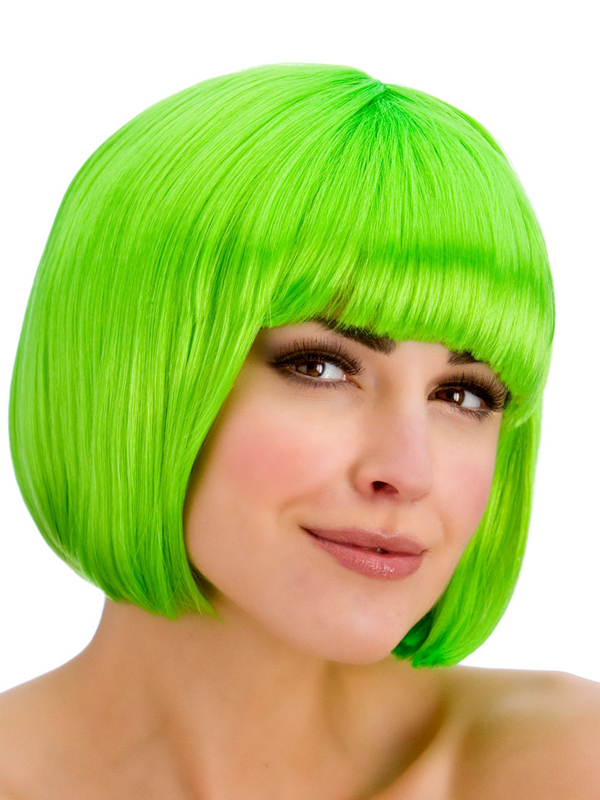 Adult Ladies Diva Neon Green Wig