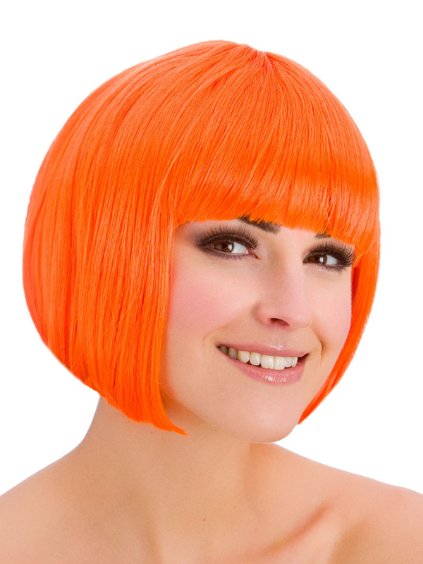 Adult Ladies Diva Neon Orange Wig