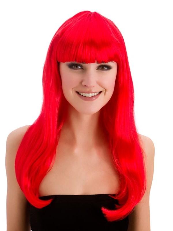 Adult Ladies Fantasy Wig Red