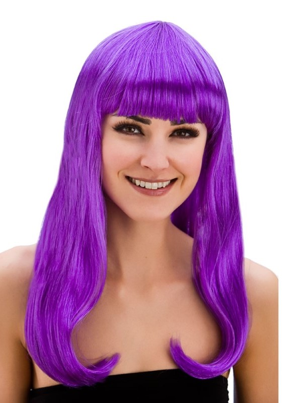 Adult Ladies Fantasy Wig Purple