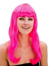 Adult Ladies Fantasy Wig Neon Pink
