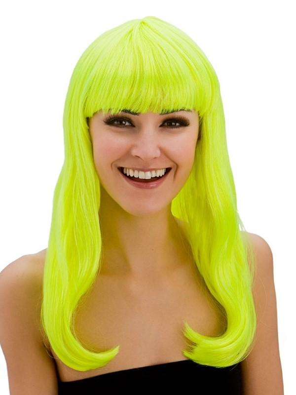 Adult Ladies Fantasy Wig Neon Yellow