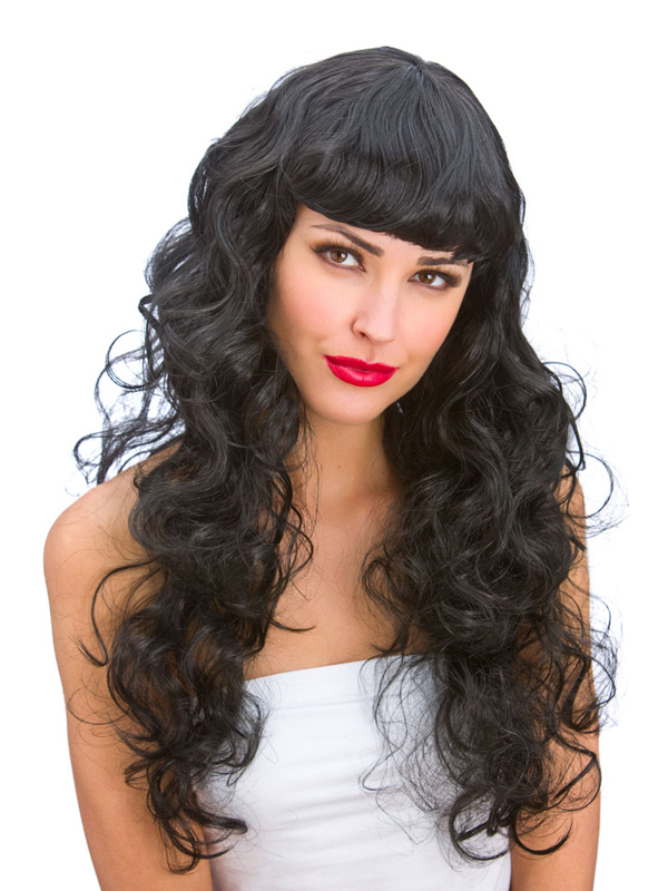 Adult Ladies Foxy Black Wig