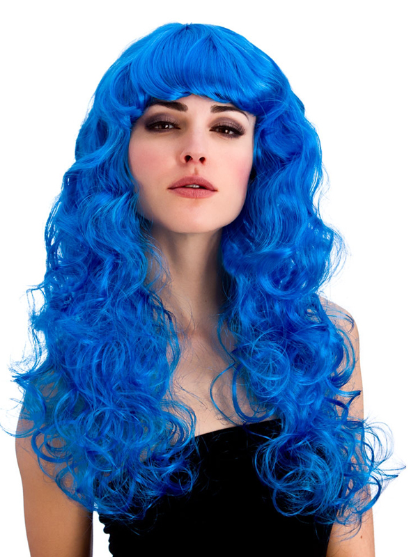 Adult Ladies Foxy Blue Wig