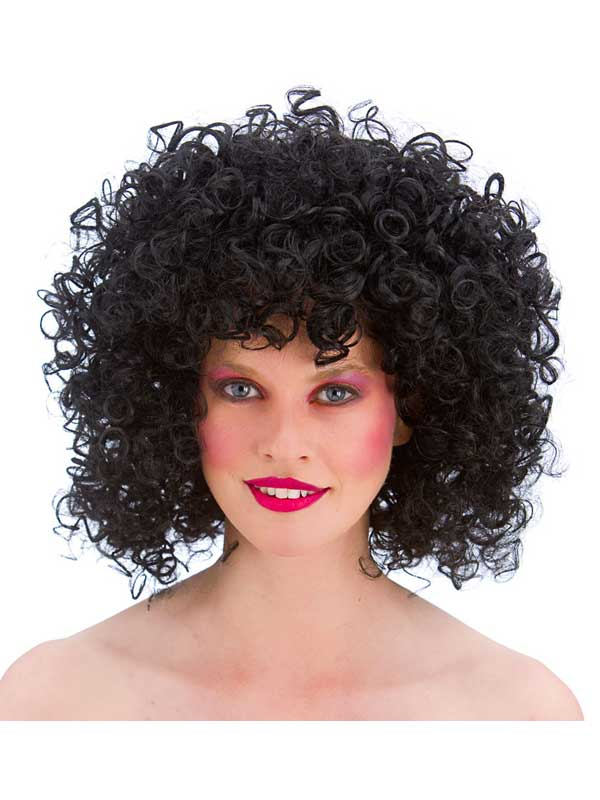 Adult 80's Disco Perm Wig (Black)