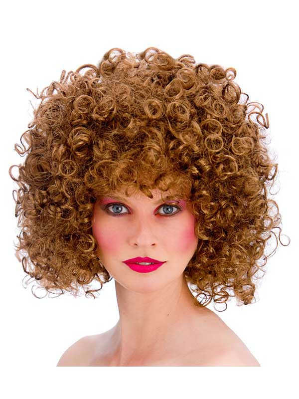 Adult 80's Disco Perm Wig (Brown)