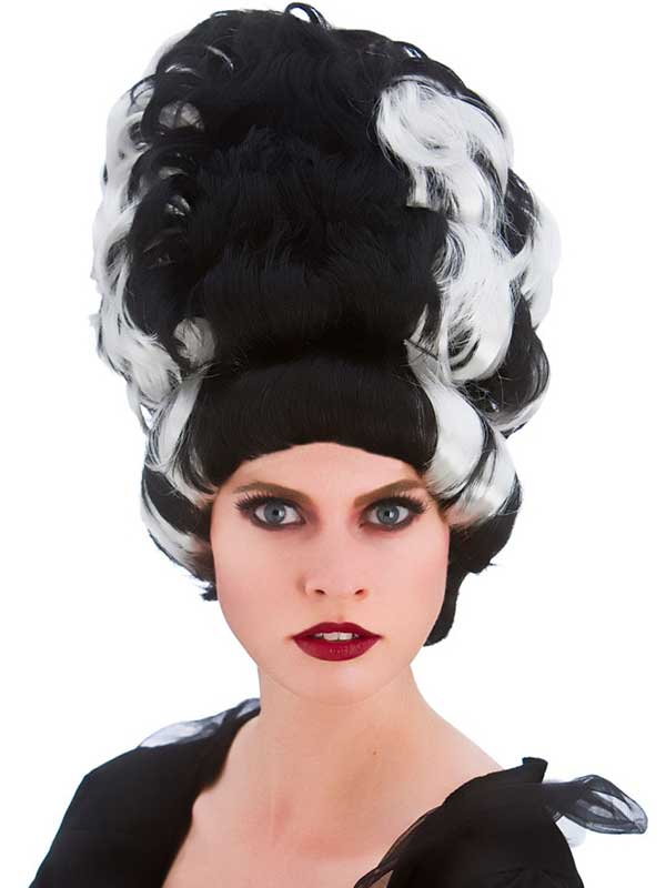 Adult Ladies Wicked Queen Wig Black White