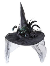 Adult Ladies Deluxe Witches Hat