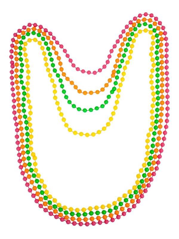 80's Neon Beads 4pc Set
