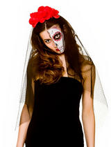 Day Of The Dead Veil On Headband