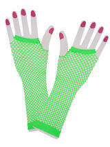 Net Gloves Long Neon Green