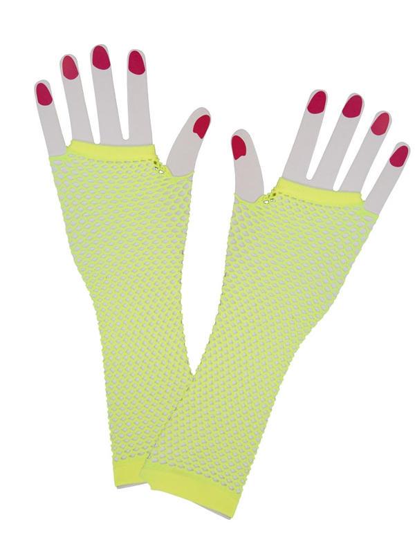 Net Gloves Long Neon Yellow
