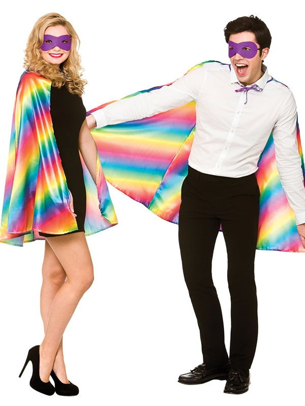 Super Hero Cape With Mask Rainbow Pride