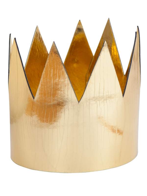 Adult King / Queen Crown Shiny Gold