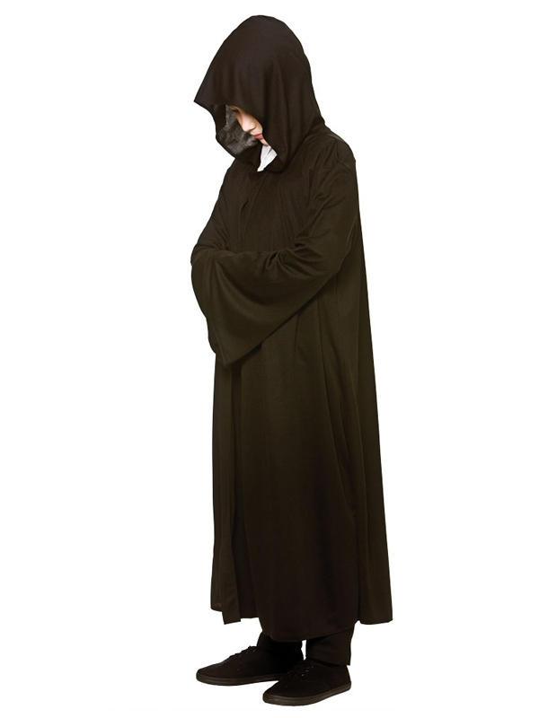 Child Black Hooded Robe Costume