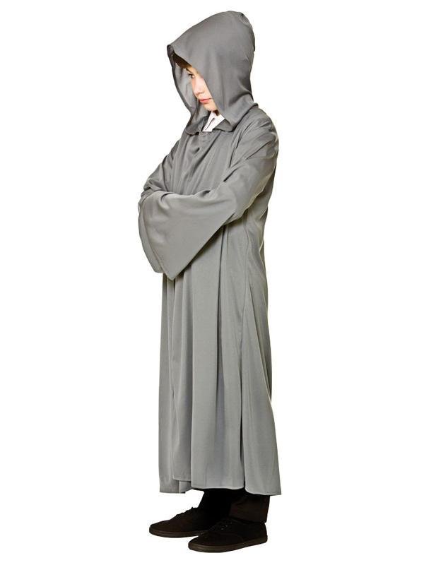Child Grey Hooded Robe Costume