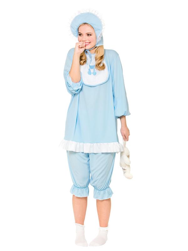 Adulto Divertente Pigiama Sonno Blu Romper CRY BABY GROW Cervo Costume