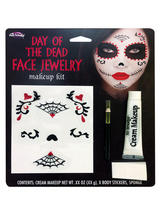 Day Of The Dead Face Jewelery Makeup Kit