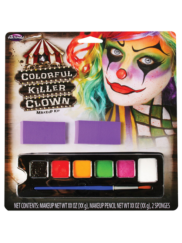 Colourful Killer Clown Makeup Kit