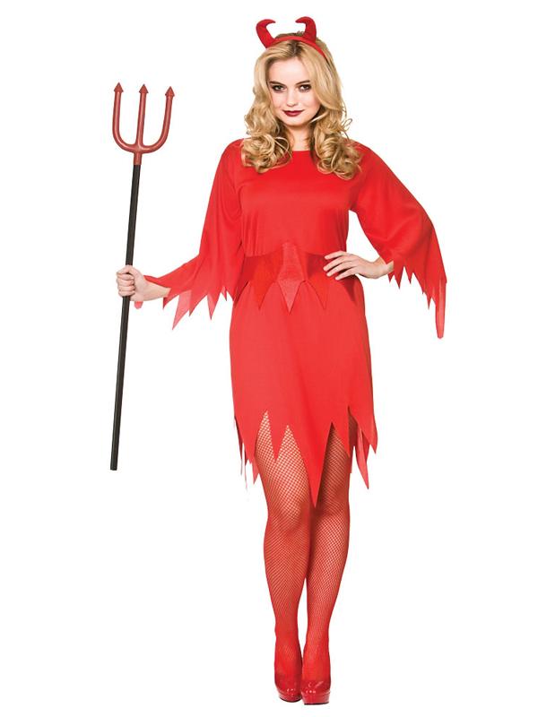 Wicked Devil Halloween Evil Hell Glamour Adults Womens Fancy Dress