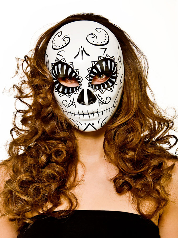 Adult Deluxe Day Of The Dead Mask