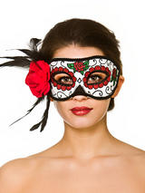 Adult Ladies Deluxe Day Of The Dead Eyemask