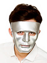 Adult Mens Robot Mask Deluxe Silver