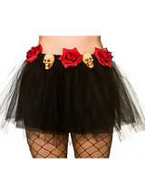 Adult Skull And Roses Tutu