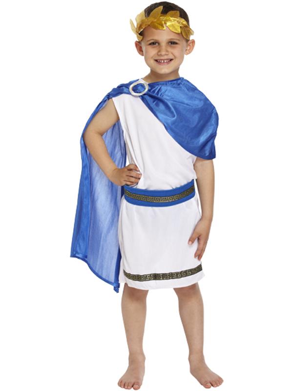 Boy-Roman-Emperor-King-Toga-Caesar-Ancient-Greek-  sc 1 st  eBay & Boy Roman Emperor King Toga Caesar Ancient Greek Childs Kids Fancy ...