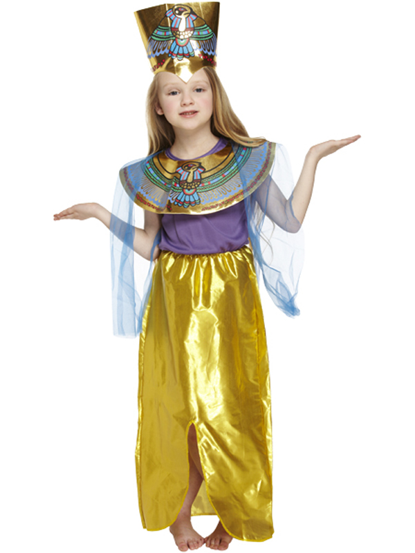 Childs-Egyptian-Girl-Costume-Queen-Of-The-Nile-  sc 1 st  eBay & Childs Egyptian Girl Costume Queen Of The Nile Cleopatra New Fancy ...
