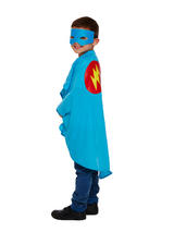 Child Superhero Cape & Mask Blue