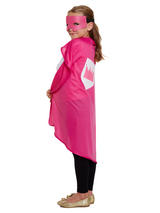 Child Superhero Cape & Mask Pink