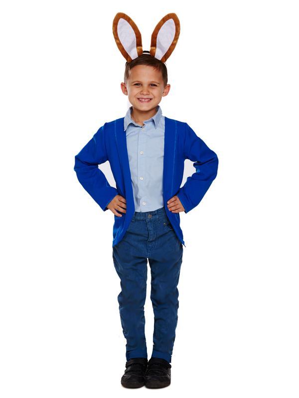 Childs-Naughty-Peter-Rabbit-New-Fancy-Dress-Costume-Jacket-amp-Ears-Kids-Book-Week