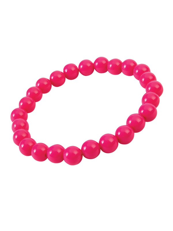 Pop Art Pearl Bracelet Hot Pink