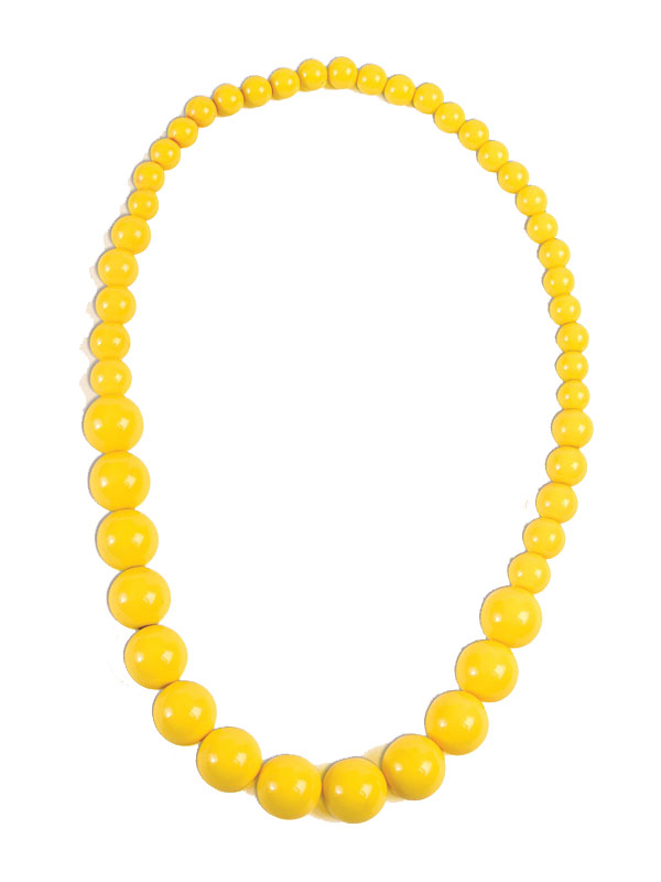 Pop Art Big Pearl Necklace Yellow